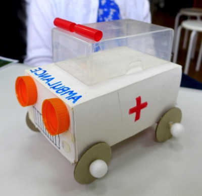 Transport-themed recycled art workshops
